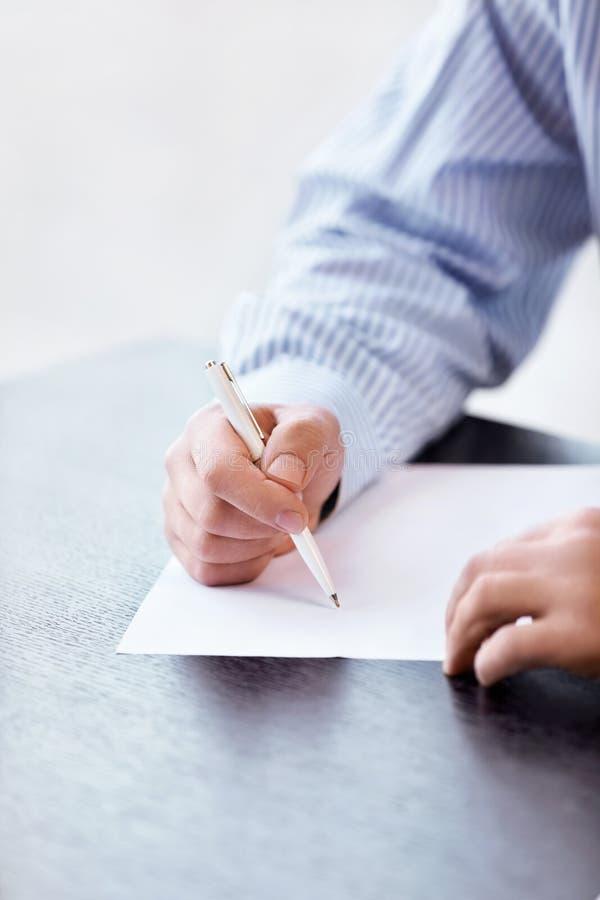 Firma il documento immagine stock
