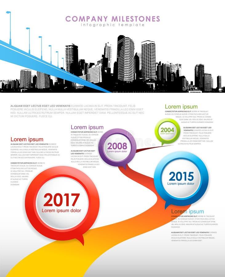 Firma kamienie milowi infographic ilustracji