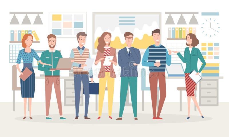 Firma koledzy Opowiada Podczas Kawowej przerwy ilustracja wektor