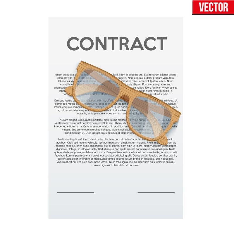 Firma legale del contratto royalty illustrazione gratis