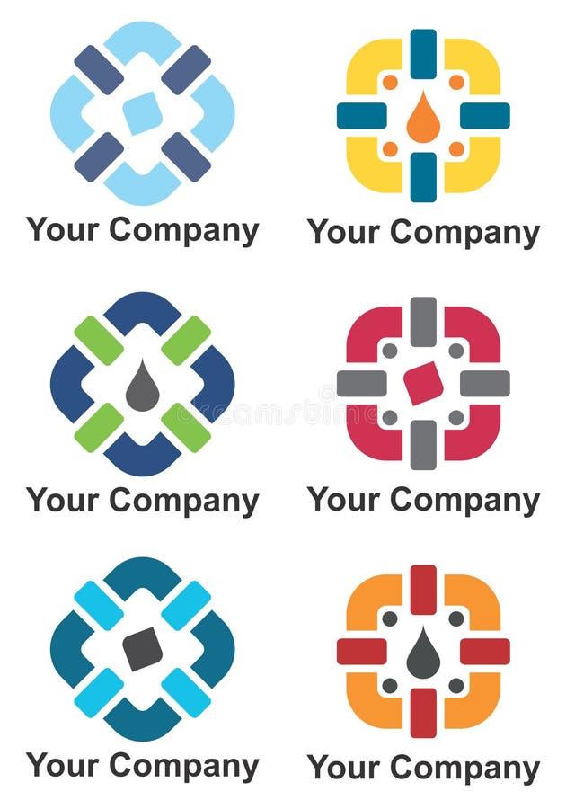 Firma loga projekt ilustracja wektor