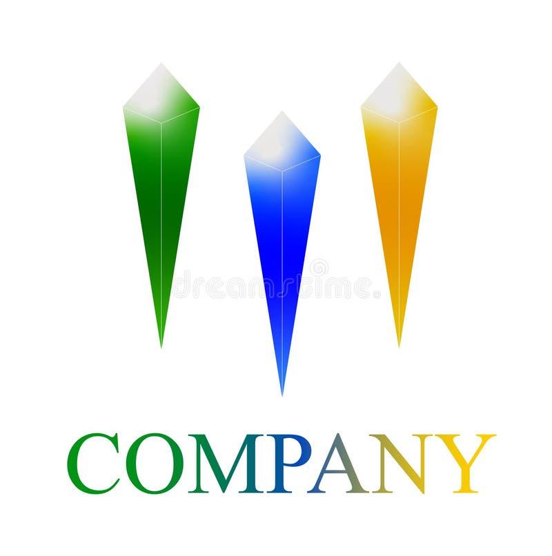Firma loga szablon kryształ 3 zdjęcie royalty free