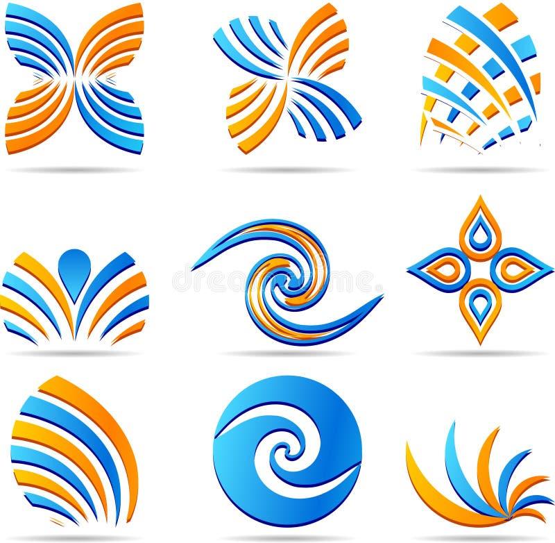 firma logowie ustawiający royalty ilustracja