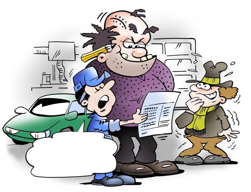 Firma nowy księgowy ilustracja wektor