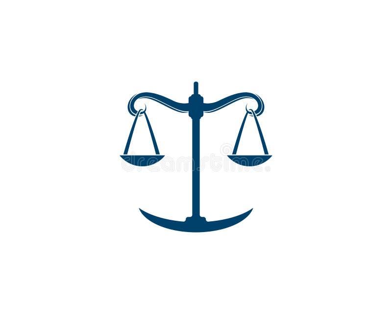 firma prawnicza loga wektoru szablon ilustracji