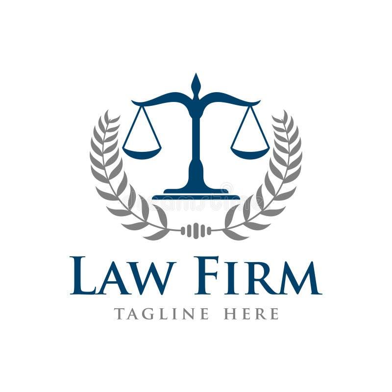 Firma Prawnicza wektoru szablon zdjęcia stock