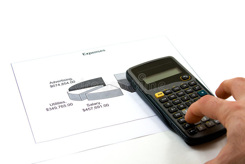 Firma-Unkosten stockbilder
