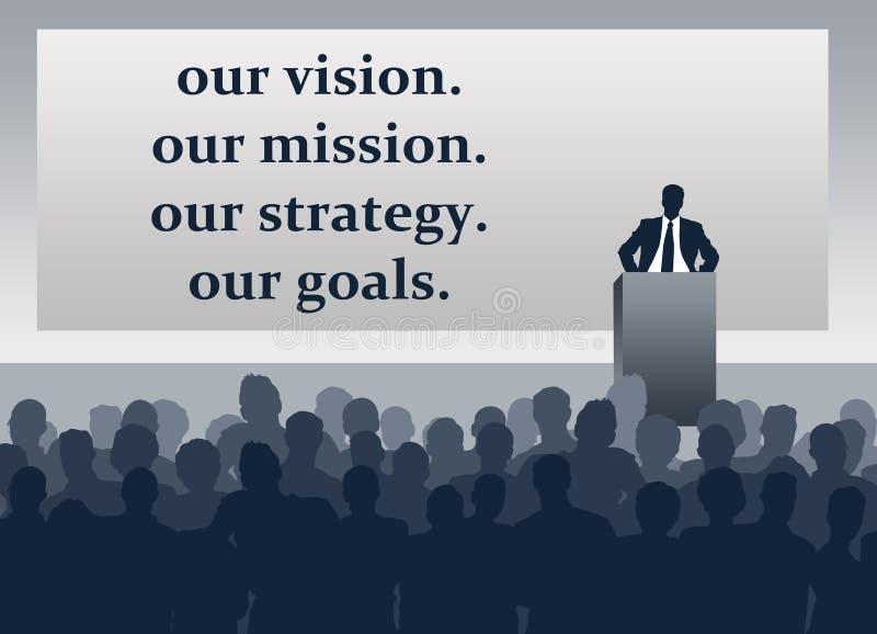 Firma wzroku misi strategii cele royalty ilustracja