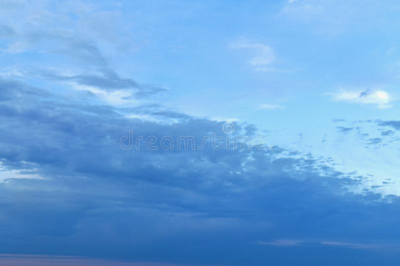 Clouds are a slide from left to right up and down. royalty free stock photos