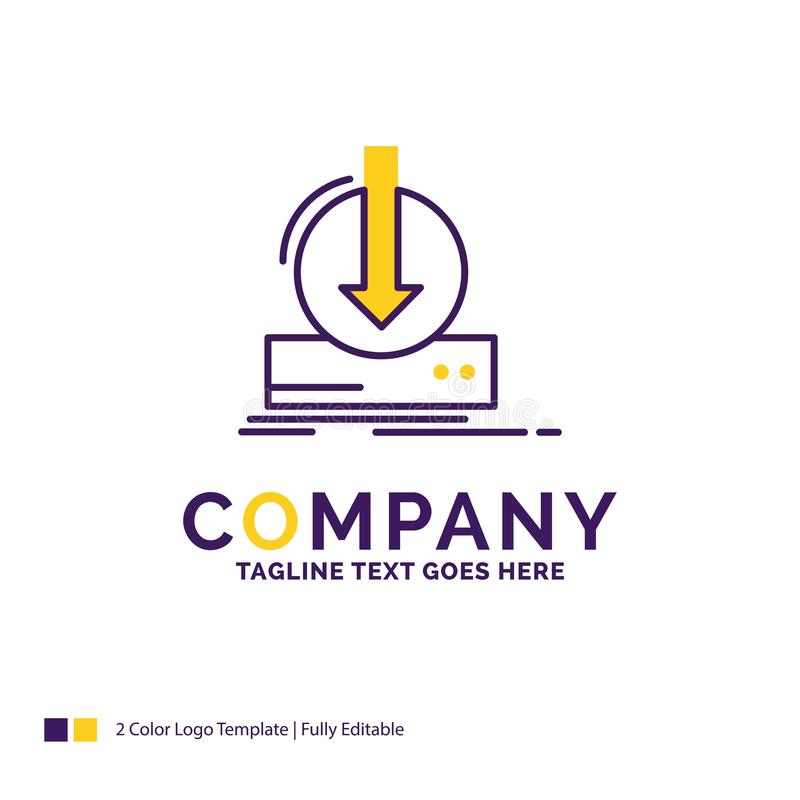 Firmanaam Logo Design For Addition, inhoud, dlc, download, g vector illustratie