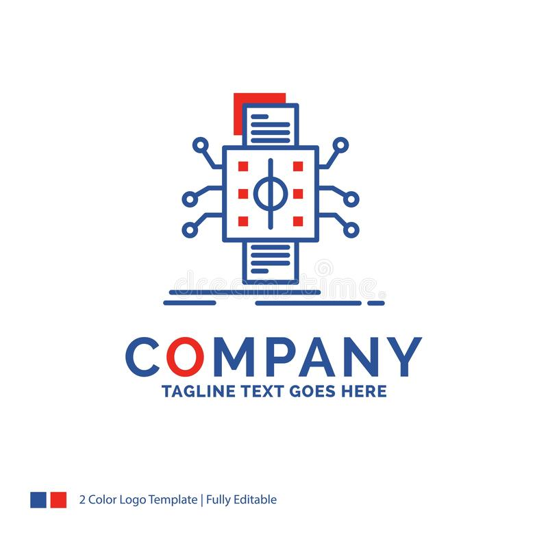 Firmanaam Logo Design For Analysis, gegevens, gegeven, verwerking royalty-vrije illustratie