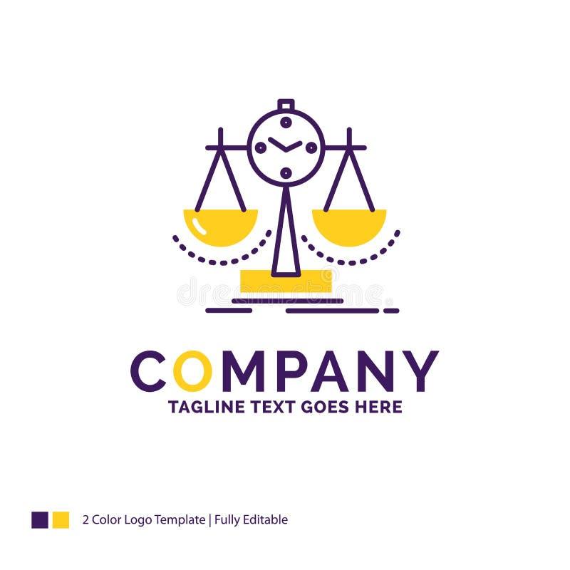 Firmanaam Logo Design For Balanced, beheer, maatregel, scor royalty-vrije illustratie