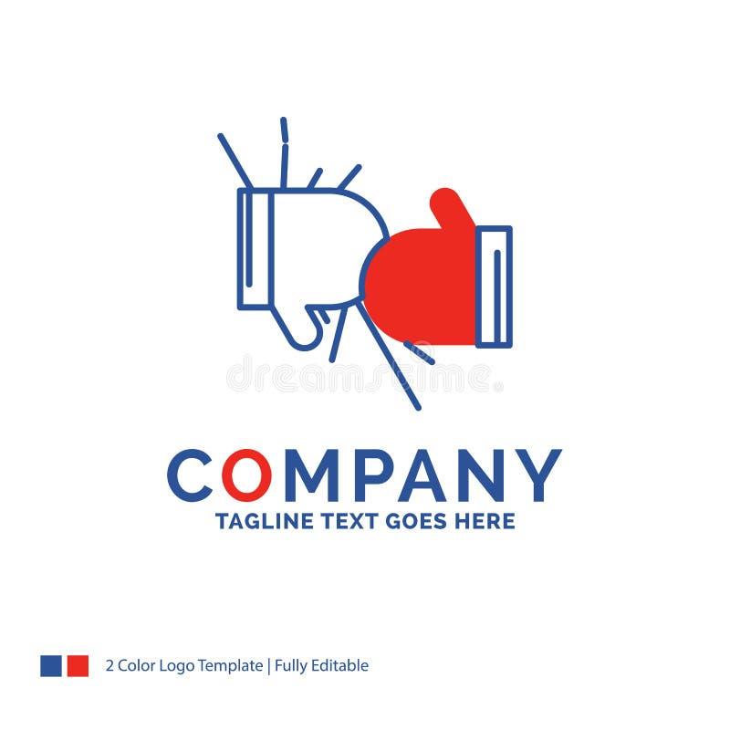 Firmanaam Logo Design For Box, het in dozen doen, de concurrentie, strijd, gl royalty-vrije illustratie