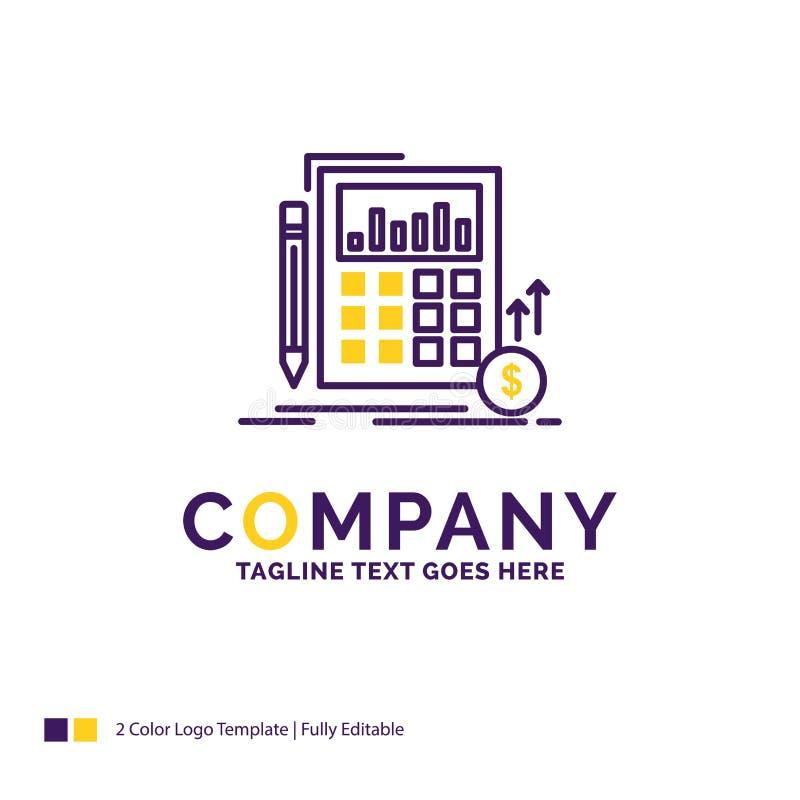 Firmanaam Logo Design For Calculation, financiële gegevens, inves vector illustratie