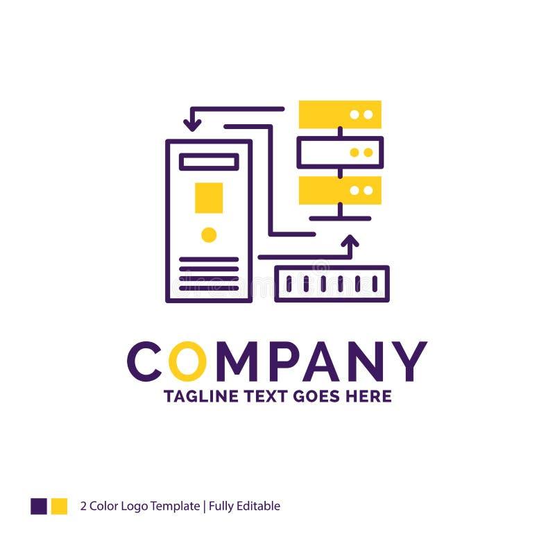 Firmanaam Logo Design For Combination, gegevens, database, electr royalty-vrije illustratie