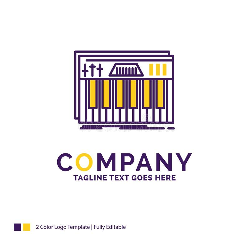 Firmanaam Logo Design For Controller, toetsenbord, sleutels, Midi, s stock illustratie