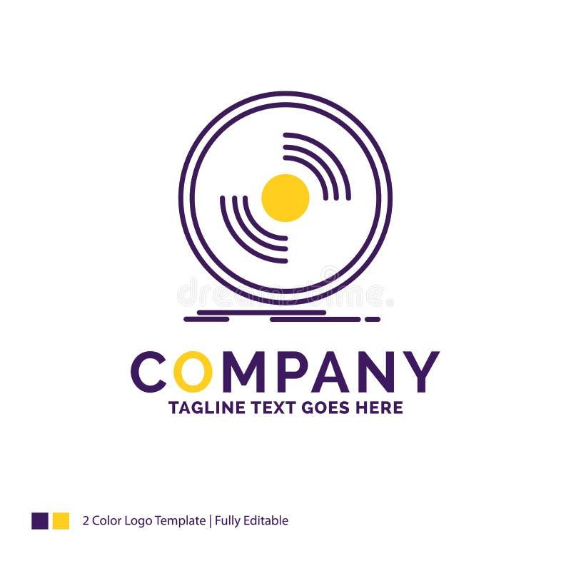 Firmanaam Logo Design For Disc, DJ, fonograaf, verslag, vinyl stock illustratie