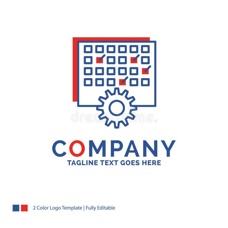 Firmanaam Logo Design For Event, beheer, verwerking, sche stock illustratie