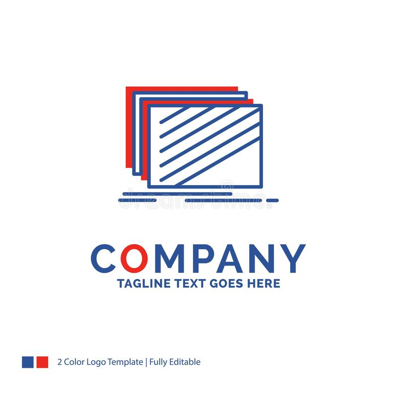 Firmanaam Logo Design For Design, laag, lay-out, textuur, tex royalty-vrije illustratie