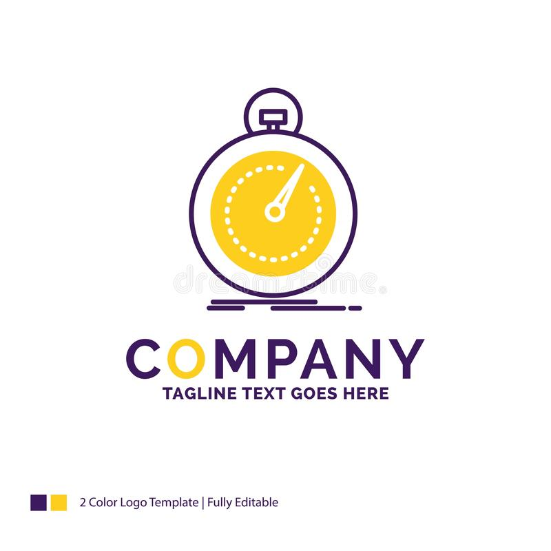 Firmanaam snel Logo Design For Done, optimalisering, snelheid, SP stock illustratie
