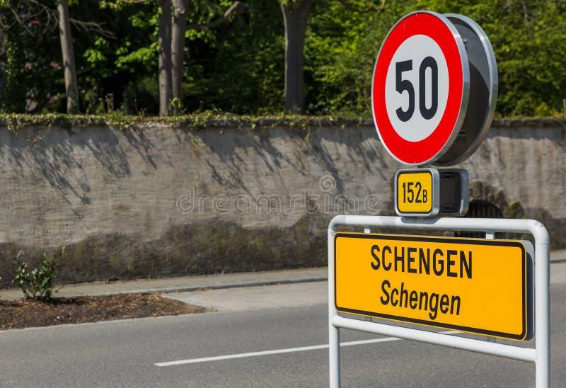 Firme adentro Schengen Luxemburgo fotografía de archivo