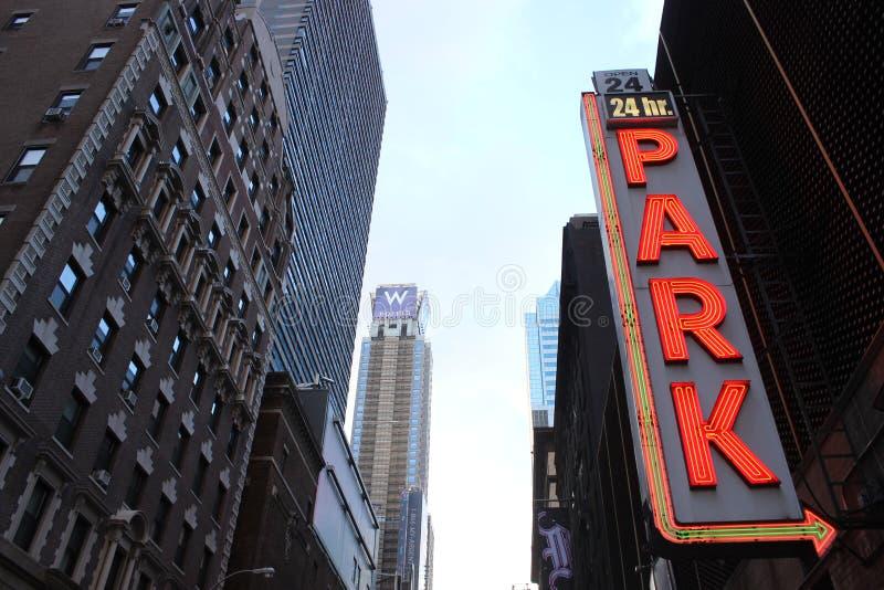 Estacionamiento en Nueva York imágenes de archivo libres de regalías