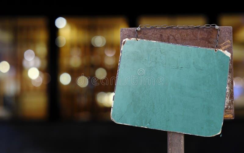 Firme la ejecución fuera de un restaurante, de una tienda, de una oficina o de otra fotos de archivo libres de regalías