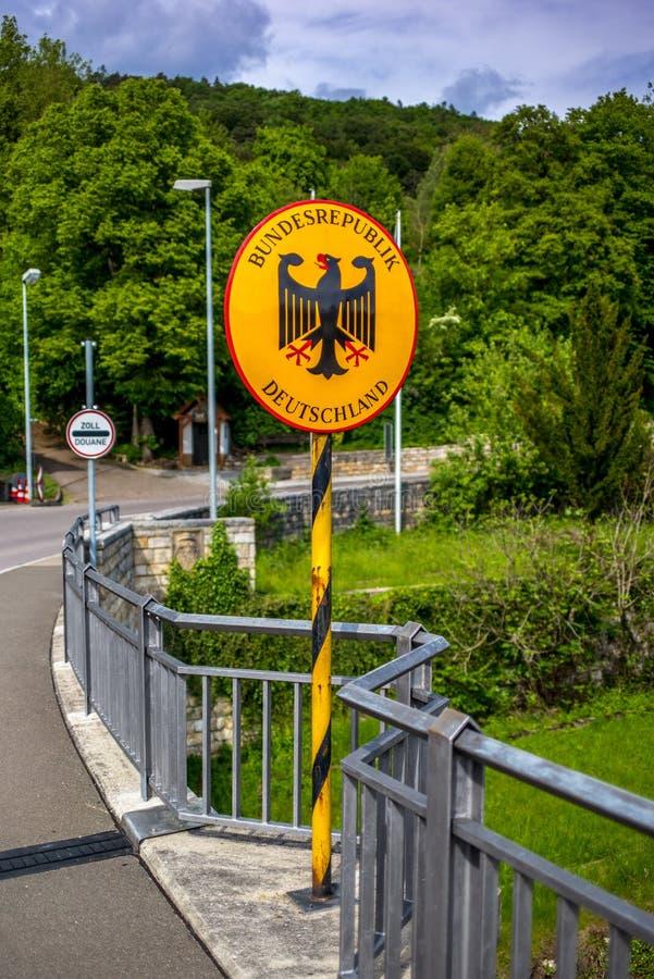 Firme la entrada de la Alemania imagen de archivo
