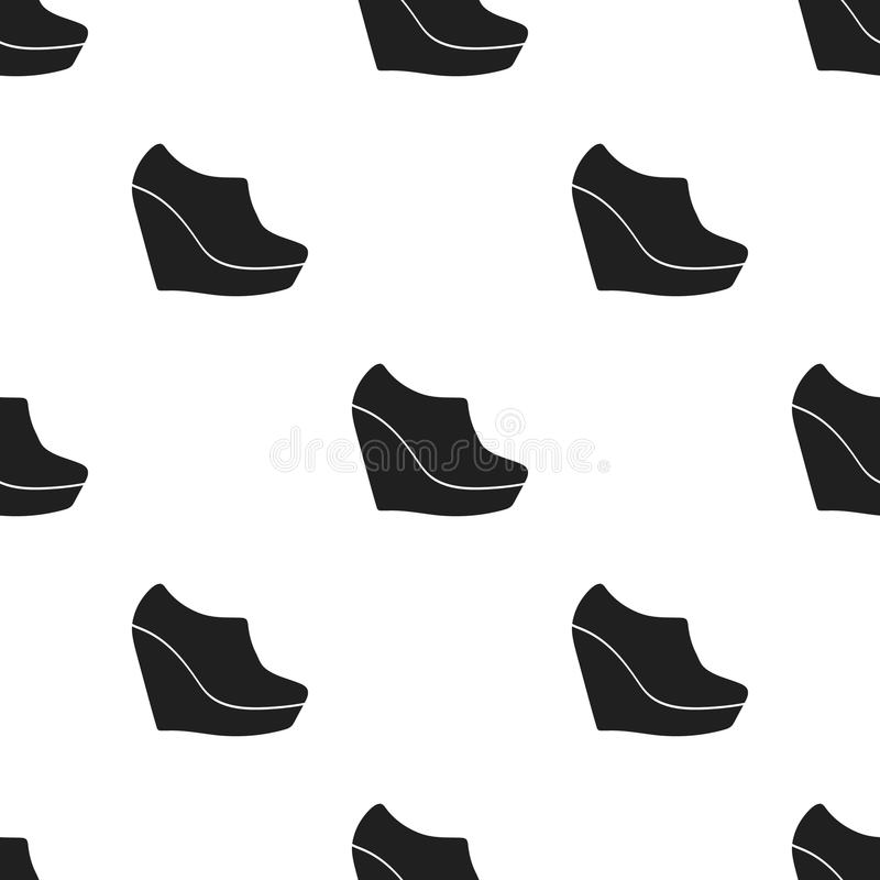 Firme o ícone dos montantes no estilo preto isolado no fundo branco Ilustração do vetor do estoque do teste padrão das sapatas ilustração royalty free
