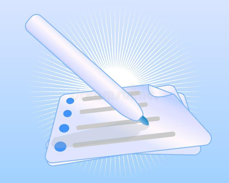 Firme para arriba y suscriba el concepto del vector libre illustration