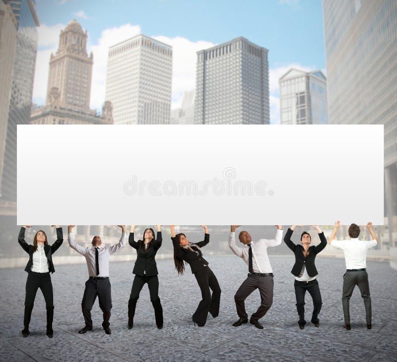 Firmenfahne stockbild