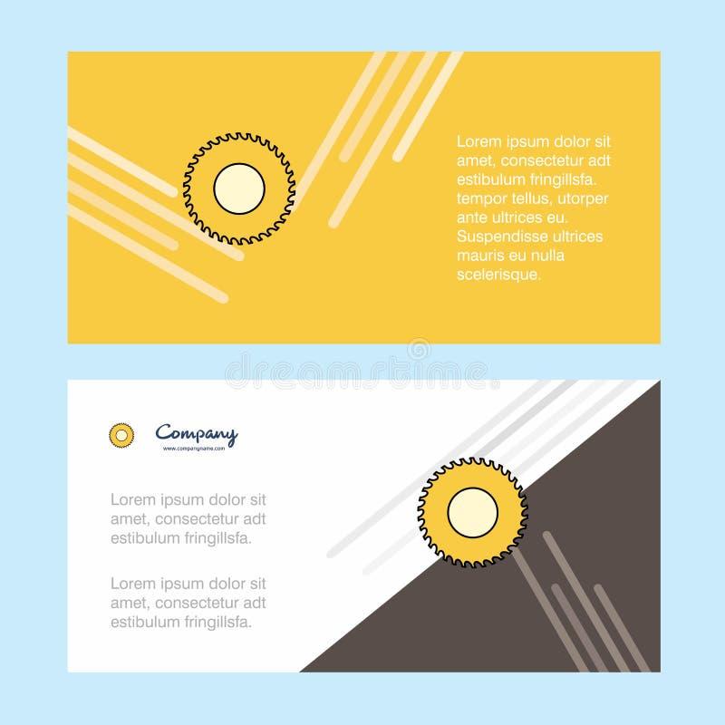 Firmenkundengeschäft-Fahnenschablone der Sägezusammenfassung, horizontale Werbebranchefahne lizenzfreie abbildung