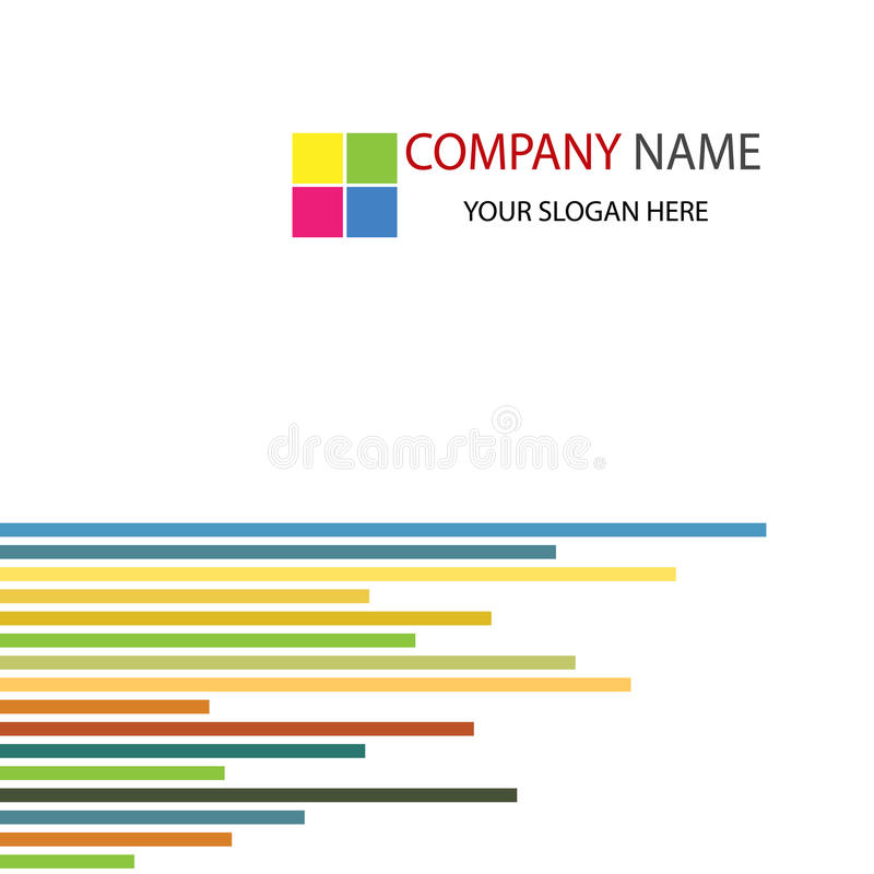 Firmenkundengeschäft-Schablonen-Hintergrund lizenzfreie abbildung