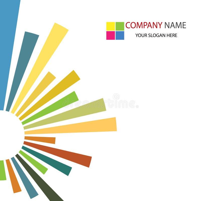 Firmenkundengeschäft-Schablonen-Hintergrund stock abbildung