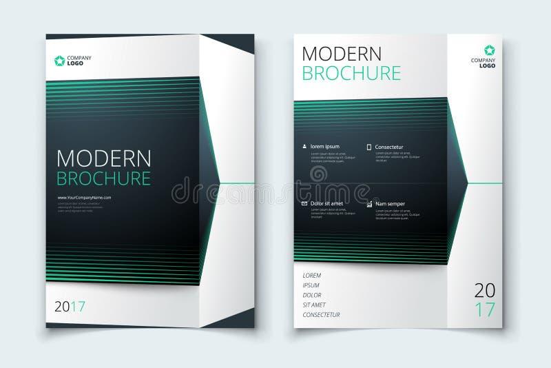 Firmenkundengeschäftjahresberichtabdeckungs-, -broschüren- oder -fliegerdesign Broschürendarstellung Katalog mit abstraktem geome lizenzfreie abbildung