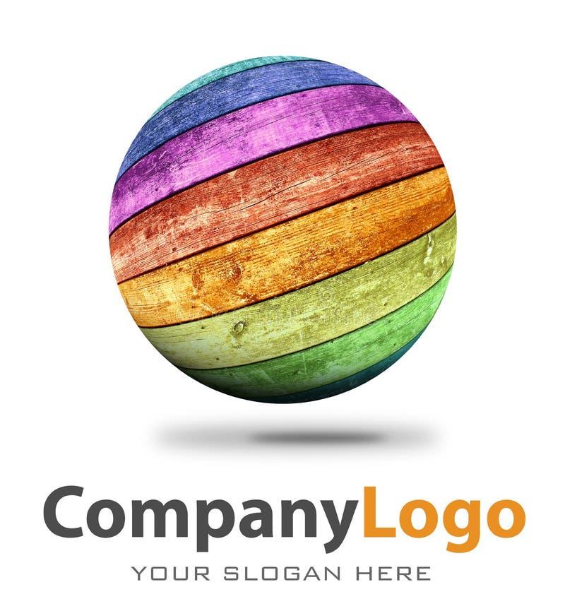Firmenlogoillustration lizenzfreie abbildung