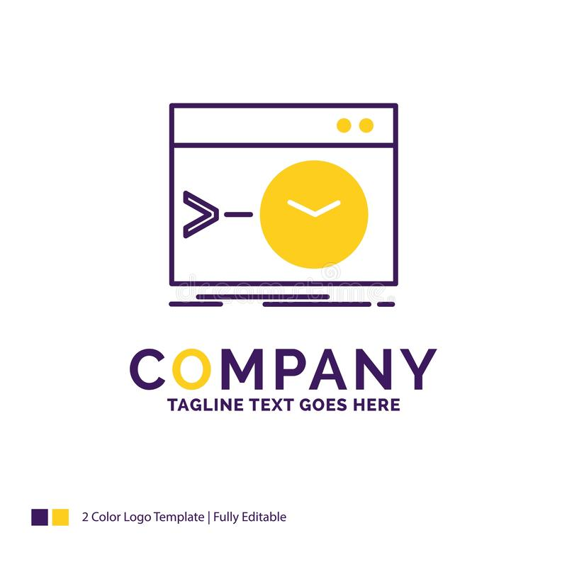Firmennamen Logo Design For Admin, Befehl, Wurzel, Software, ter stock abbildung
