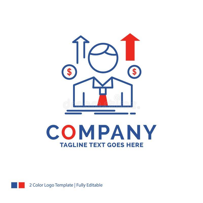 Firmennamen Logo Design For Business, Mann, Avatara, Angestellter, sa vektor abbildung