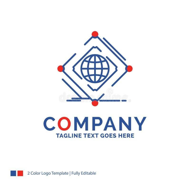 Firmennamen Logo Design For Complex, global, Internet, Netz, Netz stock abbildung