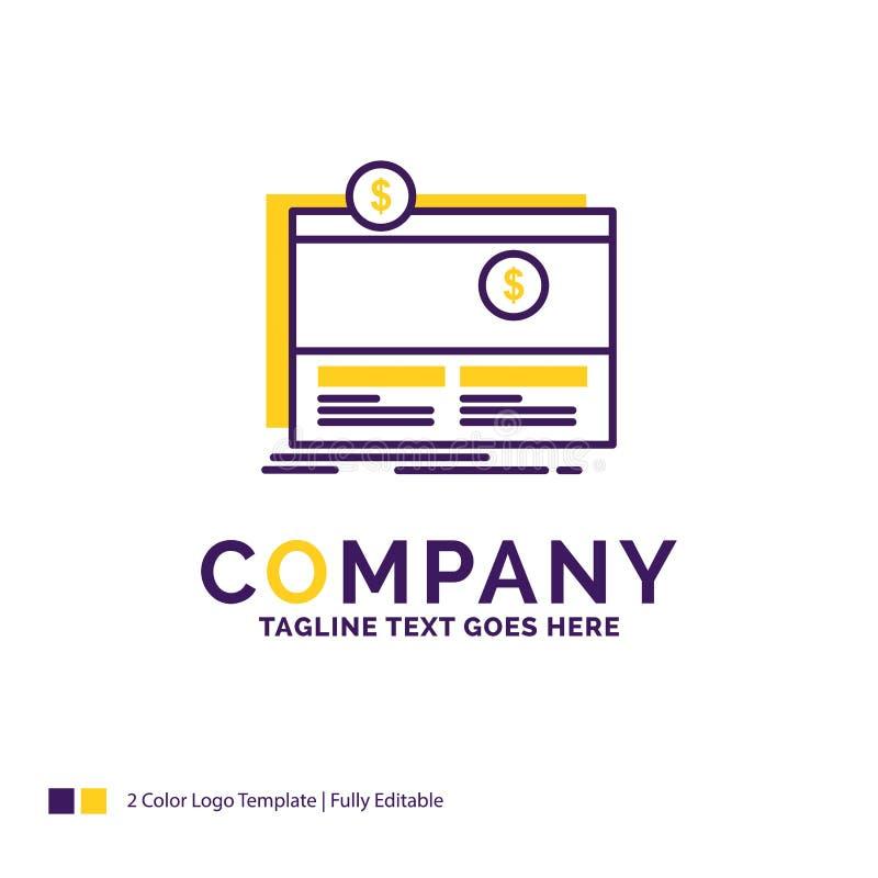 Firmennamen Logo Design For Crowdfunding, Finanzierung, beschaffend Mittel stock abbildung