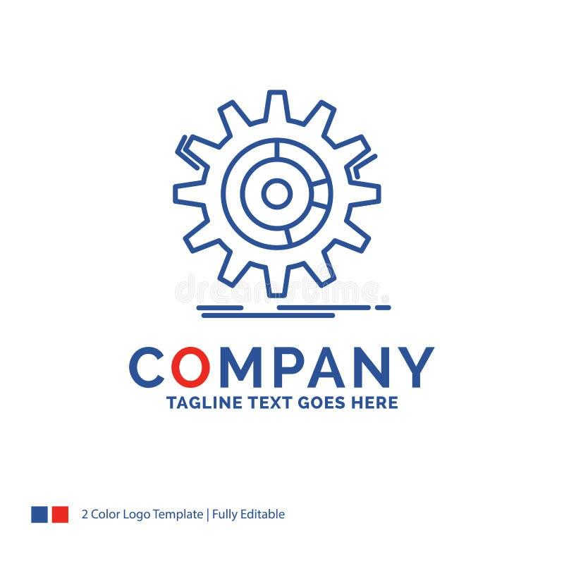 Firmennamen-Logo Design For-Einstellung, Daten, Management, Prozess stock abbildung