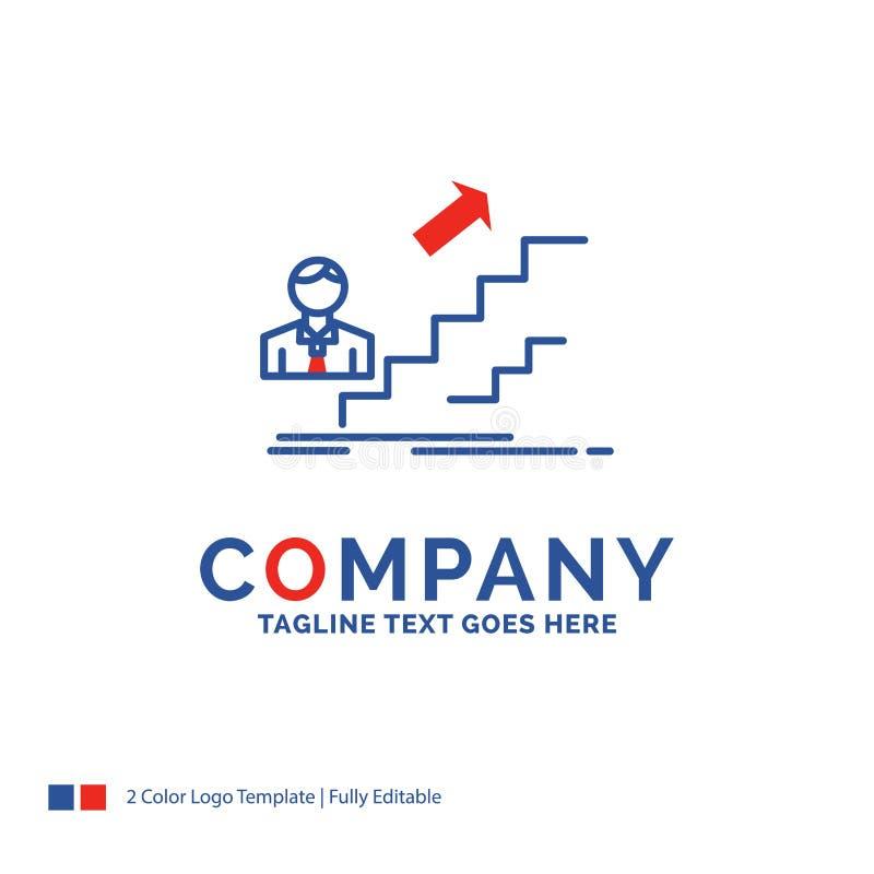 Firmennamen-Logo Design For-Förderung, Erfolg, Entwicklung, Le vektor abbildung