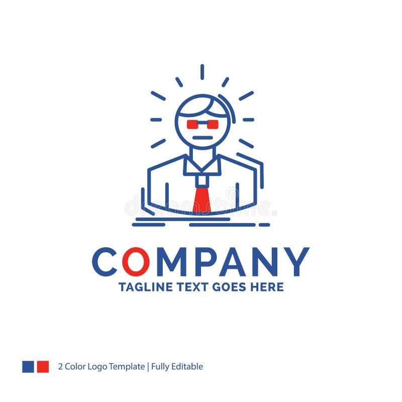 Firmennamen Logo Design For Manager, Angestellter, Doktor, Person vektor abbildung