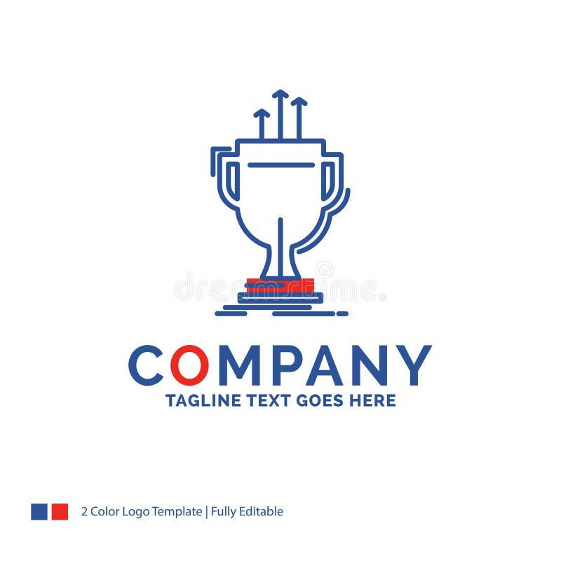 Firmennamen-Logo Design For-Preis, wettbewerbsfähig, Schale, Rand, priz stock abbildung