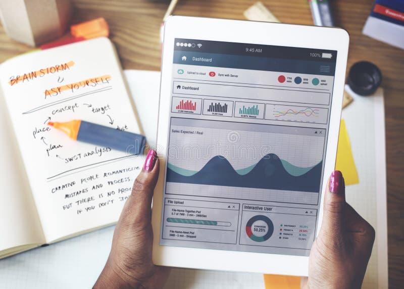 Firmenneugründungs-Kommunikations-Planungs-Strategie-Konzept lizenzfreies stockbild