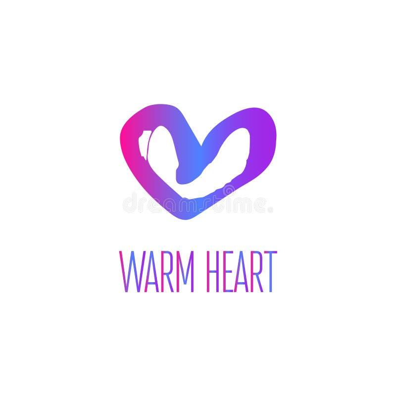 Firmenzeichen des warmen Herzens stockfotografie