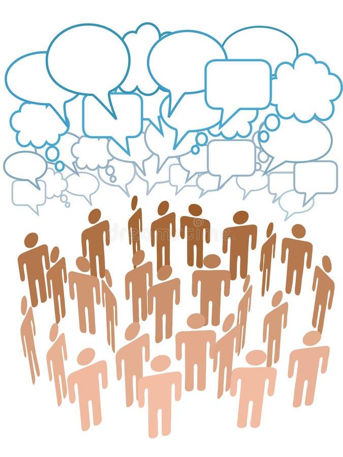 firmy grupy medialni sieci ludzie ogólnospołecznej rozmowy ilustracji