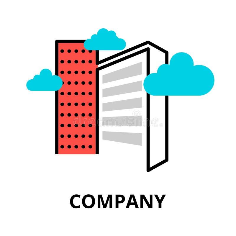 Firmy ikona dla grafiki i sieć projekta, ilustracja wektor