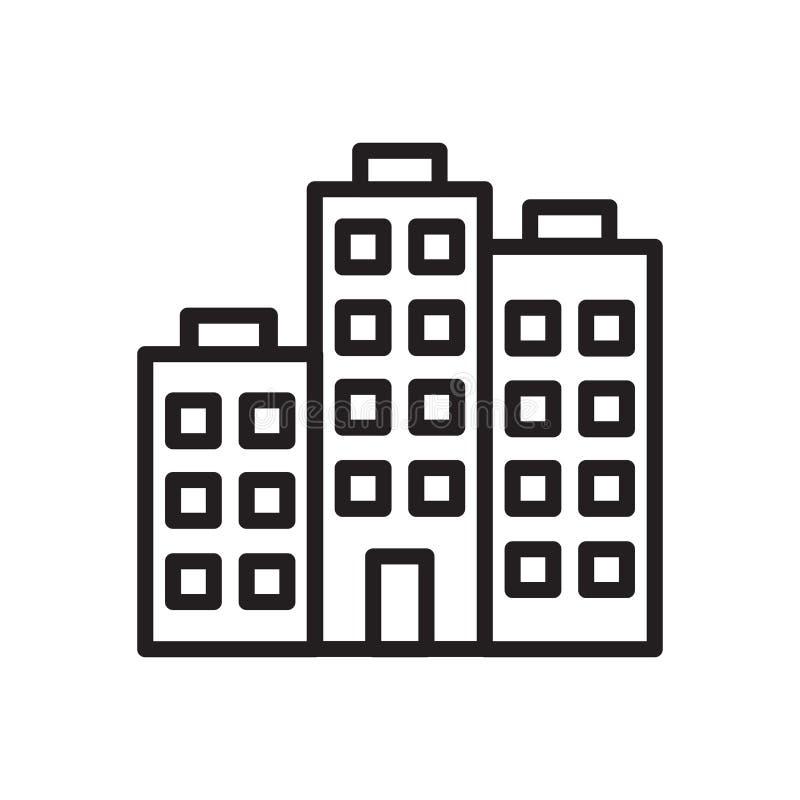 Firmy ikony wektor odizolowywający na białym tle, firma znak ilustracji
