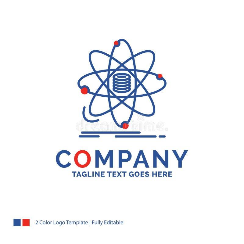 Firmy imienia logo projekt Dla analizy, dane, informacja, resear ilustracji